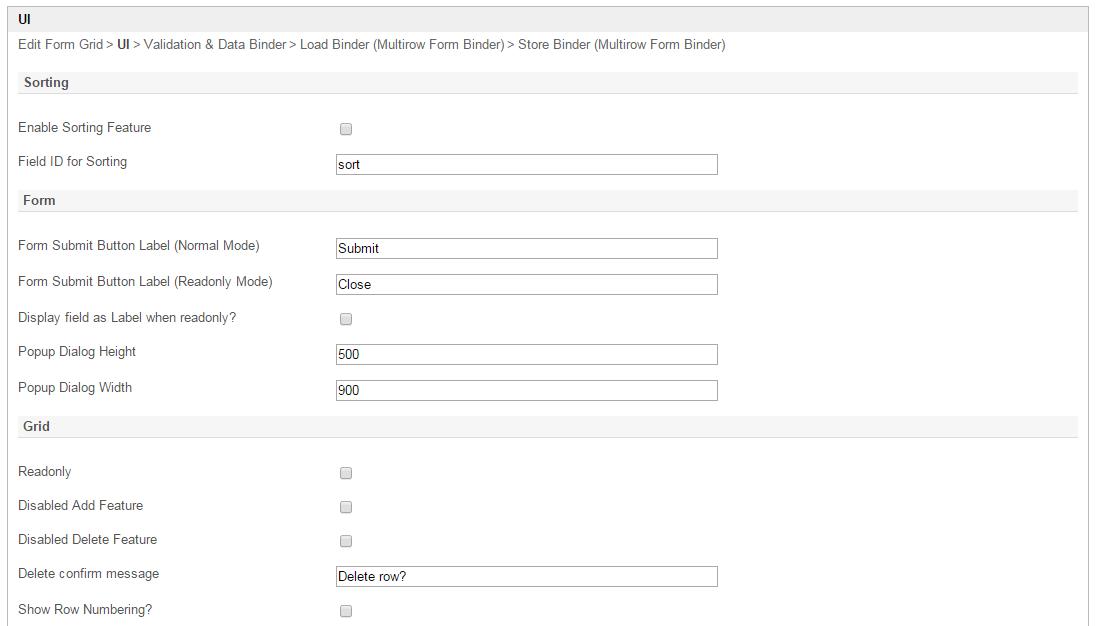 Form Grid - Knowledge Base for v5 - Joget | COMMUNITY