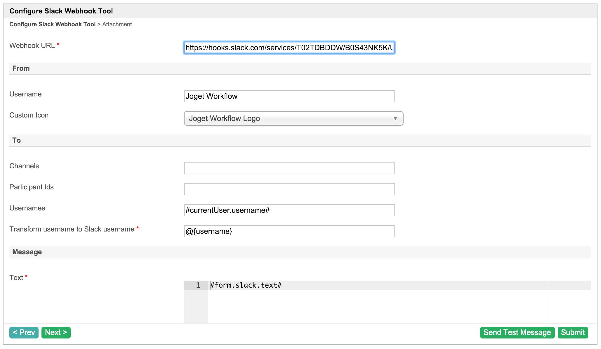 How to develop a Slack Webhook Tool - Knowledge Base for v5