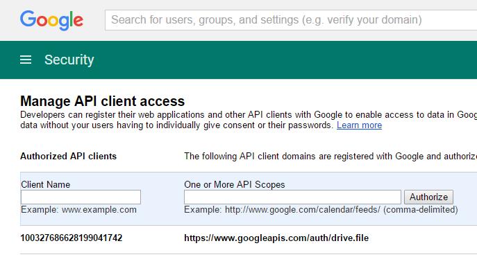 Google API Configuration - Knowledge Base for v5 - Joget