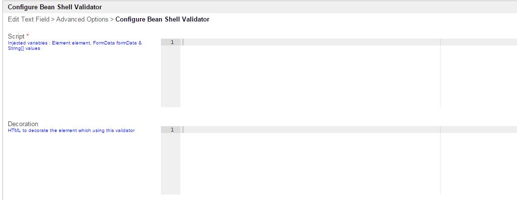 Bean Shell Validator - Knowledge Base for v6 - Joget | COMMUNITY