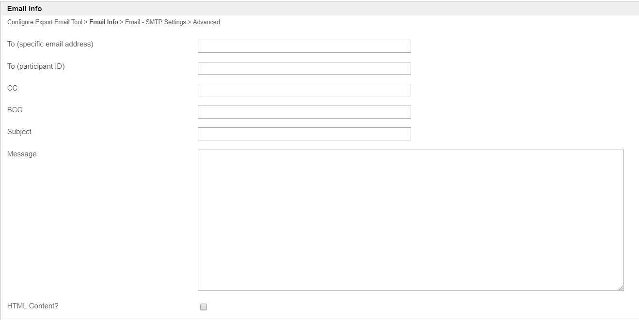 Export Form Email Tool - Knowledge Base for v6 - Joget | COMMUNITY