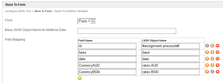 Configure JSON Tool based on the JSON data structure