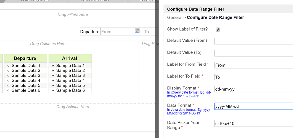 Using Date Formatter, Date Filter and Date Range Filter