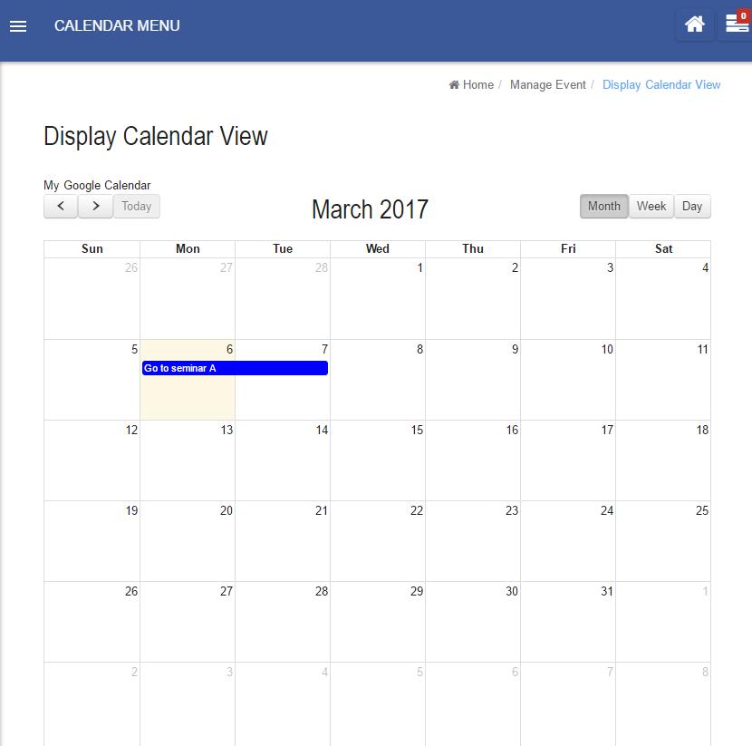 Calendar - Knowledge Base for v6 - Joget   COMMUNITY